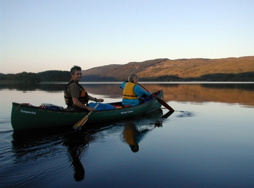 Canoeing on Loch Awe
