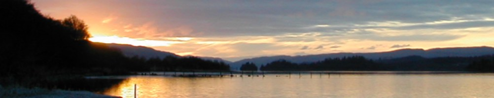 Icy Loch Awe Sunset